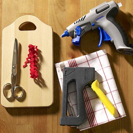 Materiais usados para fazer o porta talheres decorativo